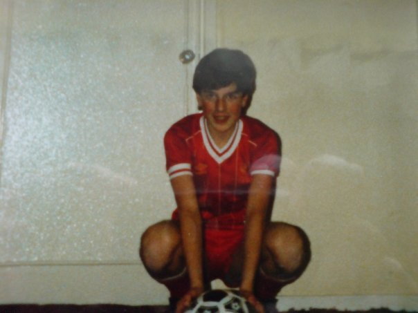 14 year old me, kitted out in the red of Liverpool